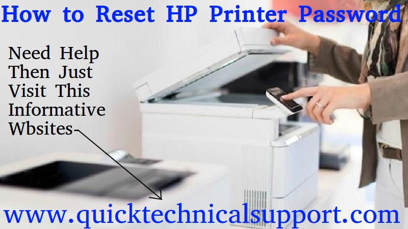 hp printer password reset